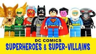 LEGO DC Superheroes & Super-Villains KnockOff Minifigures w/ Superman Batman & Robin