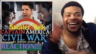 Captain America: Civil War SPOILER TALK By Jeremy Jahns REACTION!!!