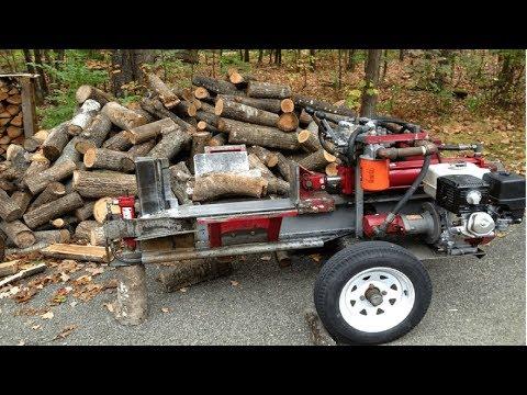 Fast Extreme Homemade Firewood Processing Machine Modern Homemade Log Splitter Wood Chainsaw Cutting