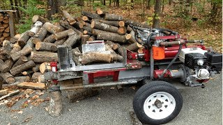 Fast Extreme Homemade Firewood Processing Machine,Modern Homemade Log Splitter,Wood Chainsaw Cutting