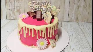 Drip cake Sahne-Mascarpone Torte mit Ananas