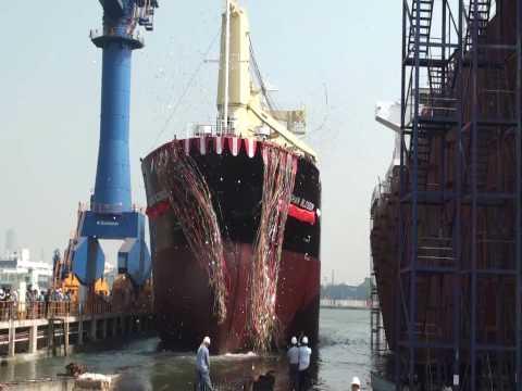 中信造船集團8500噸散裝貨輪下水典禮