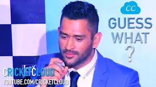 MS Dhoni's BEST ANSWER EVER - HATS OFF MAN !!