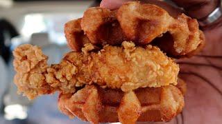 KFC Chicken & Waffles made me CALL MY MOMMA