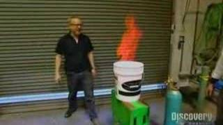 Mythbusters - Soapy water + methane