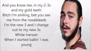 White Iverson - Post Malone   Lyric Video