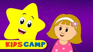 Twinkle Twinkle Little Star Magic Nursery Rhymes Song by Kids Camp | Star Party with Elly and Eva