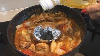 """"""" Chicken Shashlik Karahi """" Bajias Cooking"""