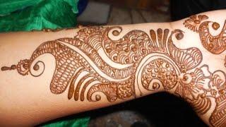 Simple Mehendi:Hath phool Henna Mehndi Design/Indian Floral Art