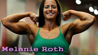 Melanie Roth charming girl with huge biceps | American fitness athlete