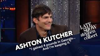 Ashton Kutcher Examines President Trump's Tweeting Style