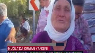 Gökova körfezinde yangın-Zeytinköy yandı