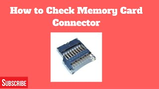 How to Check Memory Card Connector with Multi-Meter (Day - 16)