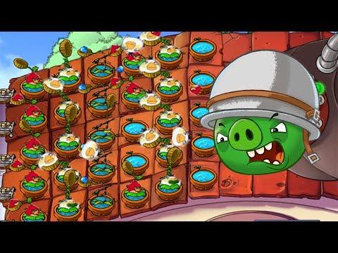 Plants vs Zombies Mod Angry Birds - Plants vs Dr. Zomboss Mod Angry Birds!