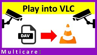 How to play dav file into vlc player