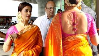 Aishwarya Rai In Saree At Mumbai Airport