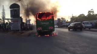 Citi Hoppa bus bursts into flames on Ngong road at Adams Arcade