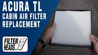 Cabin air filter replacement- Acura TL