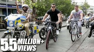 Salman Khan And Brother Sohail Khan Riding Cycle On The Streets Of Bandra, Mumbai