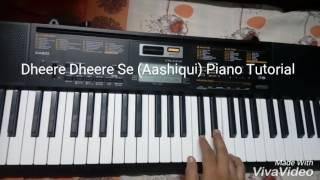Dheere Dheere Se (Aashiqui) Piano Tutorial