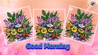 English Language Good Morning Flowers greeting  video  for  everybody everyone