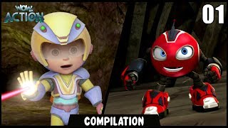 Vir: The Robot Boy & Rollbots | Compilation 01 | Action show for kids | Wow Kidz Action