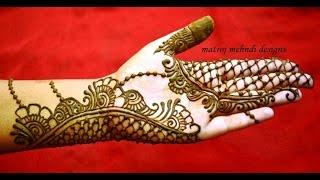 beautiful easy simple trendy henna mehndi designs for hands: Matroj Mehndi designs