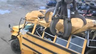 tearing apart a school bus (part 1)