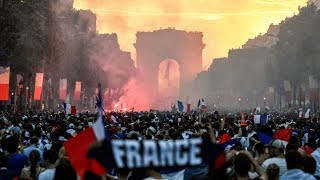 شاهد المهزلة والفضيحة الفرنسية بعد احتفالات كأس العالم في فرنسا