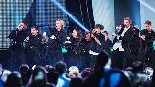 The Fooo Conspiracy kör ett medley av sina låtar - Idol Sverige (TV4)