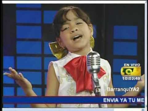 SALOME niña cantante de 8 años sorprendente me gustas mucho