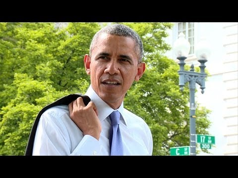 Raw Video The President Takes a Surprise Walk