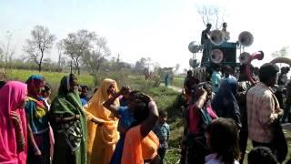 Village women dance for wedding celebration