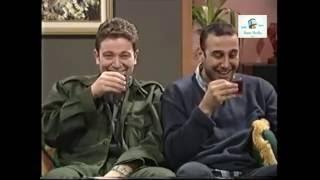 قصي خولي و ليث مفتي  مشهد مضحك مشربش الشاي اشرب ازوزة قلة ذوق وكثرة غلبة