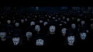 V For Vendetta: Ending scene.