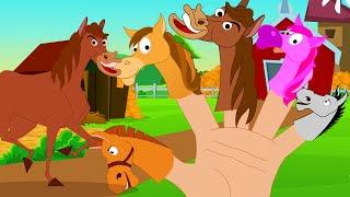 Horse Finger Family | Nursery Rhymes For Children