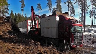 Scania R620 8X4 With Bruks Wood Chipper