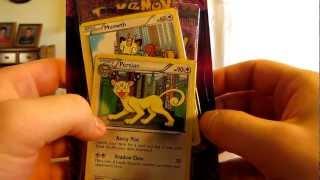 Opening a Persian Dark Explorers Promo Pokemon Card Pack