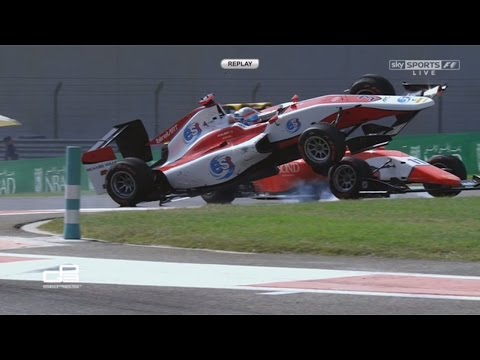 Xxx Mp4 GP3 Series 2016 Race 1 Yas Marina Circuit Alexander Albon Jack Aitken Crash 3gp Sex
