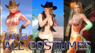 Dead or Alive 5 Last Round: All Tina Costumes (Victory Poses)