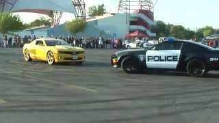 Police car join the Drift show