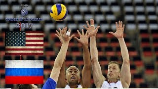 ALL BREAKS REMOVED - USA v Russia REMATCH - FIVB World League 2017 Pool Play