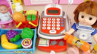Baby doll Mart and cash register toys play