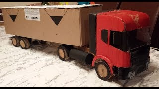 How To Make Container Trucks RC (SCANIA) Amazing cardboard DIY