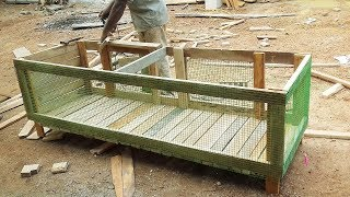 Easy Way to Make Chicken Cage Using Wood and Iron Net