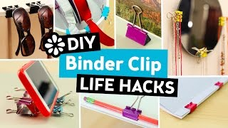 10 Easy DIY Binder Clip Life Hacks   Sea Lemon