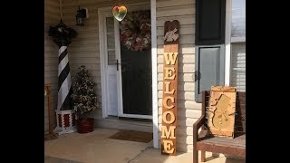 Make a Welcome Sign for Less than $10.00