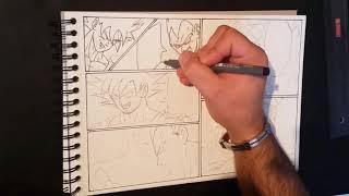 Drawing a Manga ► Dragon Ball Z - Aglot Saga ► Page #1