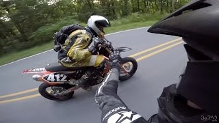 Most Funny Downhill Supermoto Race