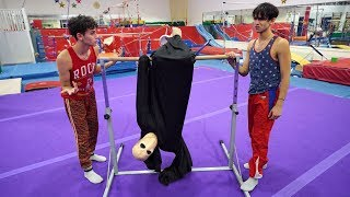 GYMNASTICS WITH SCARY MONSTER!